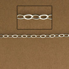 1ft - Sterling Silver Extension Chain. 925 Cable Chain for Jewelry Design. 1808F