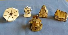 Assorted Collection of 5 Ceramic Miniature Houses / Cottage / Windmills