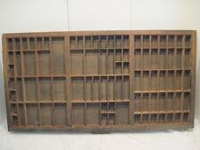 C1 Old Printer Tray The Carrom Co. Ink Drawer Wood Shaddow Box Nick Knack Shelf