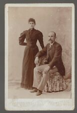 Cabinet Card Maine Couple by Hammond of Lewiston Maine