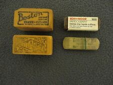 Lot of 4 Vintage Art Mix Boston,Vita-gum, Goodyear, KOH-I-NOOR Art Gum Erasers