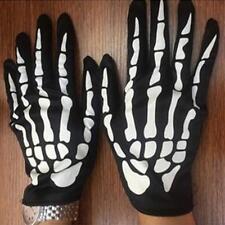 SKELETON GLOVES Costume Party Accessory Halloween Horror Fancy Dress Bone Print