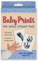 Baby Prints No Mess Stamp Pad Hand Foot Ink Print Kit Kids Memories Newborn 6393