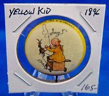"1896 High Admiral Cigarettes Yellow Kid #35 Advertisin Pin Pinback Button 1 1/4"""