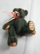 "World of Miniature Bears 2.5"" Plush Bear Hunter Green #316 Closing"