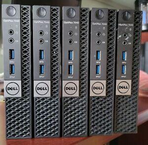 Dell Optiplex 7040 Micro Tiny PC i5-6500T 2.50Ghz Quad 8G Ram 256G SSD Wifi LOT
