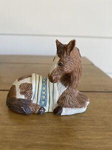 Ceramic Horse With Saddle Blanket Figurine Hol1993