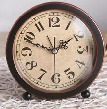 Creative alarm clock vintage style desk Dia.13.7cm clock home office decor-P01