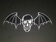 ROCK MUSIC SEW/IRON ON PATCH:- AVENGED SEVENFOLD (a) BLACK WINGED DEATHBAT