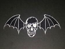 ROCK MUSIC SEW/IRON ON PATCH:- AVENGED SEVENFOLD (a) BLACK WINGED DEATHBAT
