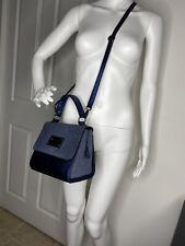 Valentino By Mario Bag Milano Genuine Leather Amelie Blue