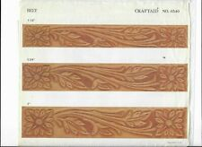 "Vtg Craftaid Leather multiple size BELT ""Template # 6530 Pattern"
