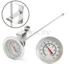"Stainless Steel Side Clip Probe Thermometer 12"" For Brew Homebrew Wine Kettle"