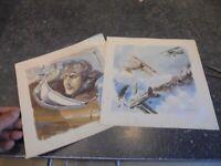 aviation A sauver 2 dessins de Géo Ham Page de livre Pilote et Combat aérien