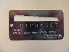 Master Padlock 0290 0373 Key Gauge For Master 6000b Amp 7000b Keys Rekeying Tool