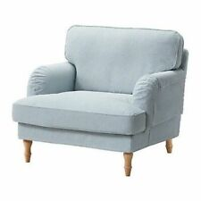 Ikea cover set for Stocksund Armchair in Remvallen Blue/White  503.202.64
