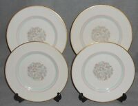 Set (4) Franciscan Fine China ROSSMORE PATTERN Salad Plates MADE IN CALIFORNIA