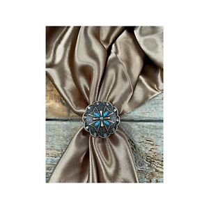 """Western Scarf Slide Concho Multiple Colors 1.5"""""""