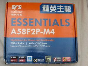 ECS A58F2P-M4 FM2+ motherboard new boxed micro ATX