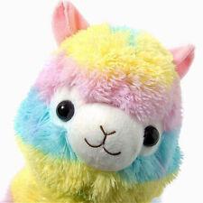 18CM Rainbow Alpacasso Soft Plush Toy Doll Kawaii Alpaca Llama Arpakasso