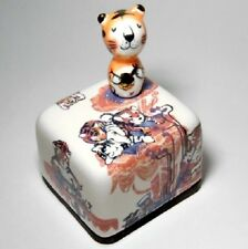 Chinese Zodiac Sign Tiger Korea Orgel Music Box Paperweight Hand Craft Figure