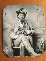 George Maddox  Confederate Cavalryman Historical RP tintype C374RP