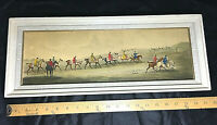 "English Fox Hunting Art Print Framed Picture Equestrian Horses Traditional 20"" L"