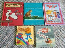 Lot of 5 Vintage Children's Books Little Toot '39 Rainbow Brite