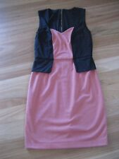 LADIES CUTE PINK & BLACK COTTON SLEEVELESS DRESS BY SUNNY GIRL- SIZE 10 - CHEAP