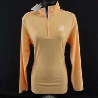 NWT Women Peter Millar Orange Athletic Pullover Shirt Size Large Sweat Shirt Top