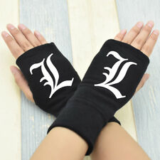 Anime Death Note Cosplay Cotton Knitted Gloves Fingerless Mittens