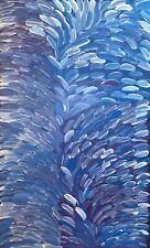 Gloria Petyarre Large Monumental Painting Top Aboriginal Art, Blue Leaf Dreaming