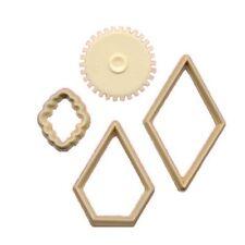 FMM Cutter Patchwork Set Cake Fondant Cutting Tool Diamond Design Wheel Shape