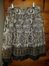 Womens cotton skirt ... Alive Girl ... size 8 ... browns ... pleats