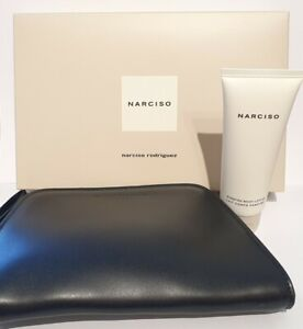 Narciso Rodriguez ' NARCISO' 75ml Scented Body lotion with black clutch bag