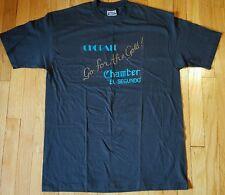 Vintage EL SEGUNDO California shirt XL black chorale music deadstock 80s NOS