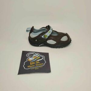 Merrell Girls Pacific Jump Mary Jane Shoes Brown Adjustable Hook And Loop 7 M