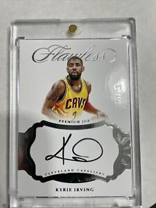 2016 FLAWLESS Kyrie Irving PREMIUM INK AUTO #'d 03/25 Nice Card !!!