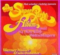 BOX SET WERNER MULLER mal wieder richtig  tanzen super party album 3X LP EX/EX
