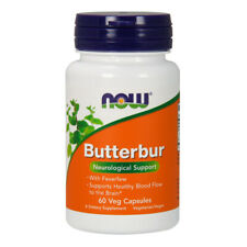 Butterbur with Feverfew, 75mg x 60 Veg Capsules - NOW Foods