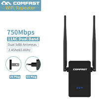 750Mbps Dual Band 2.4/5.8GHz SKY Wireless Repeater WiFi Range Extender Booster