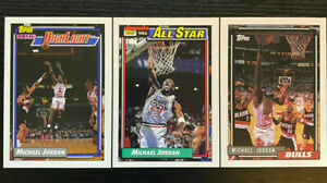 1991-93 TOPPS MICHAEL JORDAN Cards #141, #115, and #3