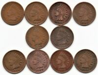 INDIAN HEAD CENT COLLECTION 1899-1908 Ten coin total. As pictured.