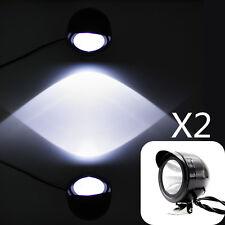 2x 5W LED Spot Head Light Motorcycle 12V-80V Waterproof Lamp Spotlight