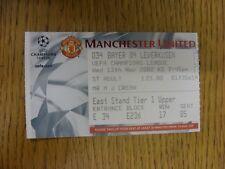 13/11/2002 Ticket: Manchester United v Bayer Leverkusen [UEFA Champions League]