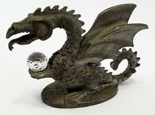 Spoontiques Pewter Dragon with Crystal Ball - Cmr665 - Collectible