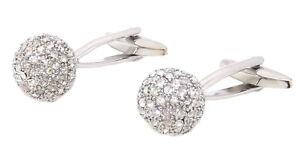 Sparking Swarovski Crystal ball Cufflinks Men wedding Gift by CUFFLINKS DIRECT