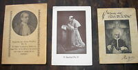 POPE PIUS XII PONT MAX 3 OLD HOLY CARDS