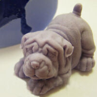 3D Shar Pei Dirty Sand Dog Cake Silicone Mold Cute Mould Pet Doggy Baking A G8Z3