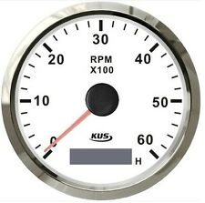 85mm White KUS Tachometer 0-6000rpm for gasoline engine CMHB-WS-6KL (SV-KY07106)
